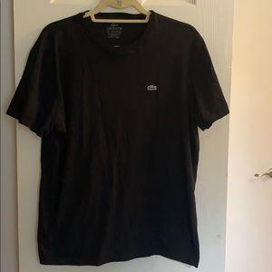Men's Lacoste size 6 black soft t shirt